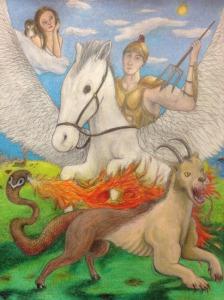 Bellerophon, Pegasus and the Chimera