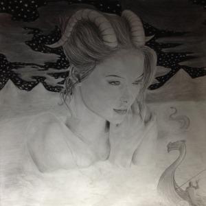 Goddess of the Mountain Lake (ref.model Bridget Malcom)